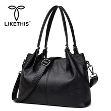 LIKETHIS Brand New Women Bag Handbag Shoulder Bags Fashion Large Capacity Ladies Pu Leather Tote Bag Bolsos Mujer Sac A Main Hot все цены