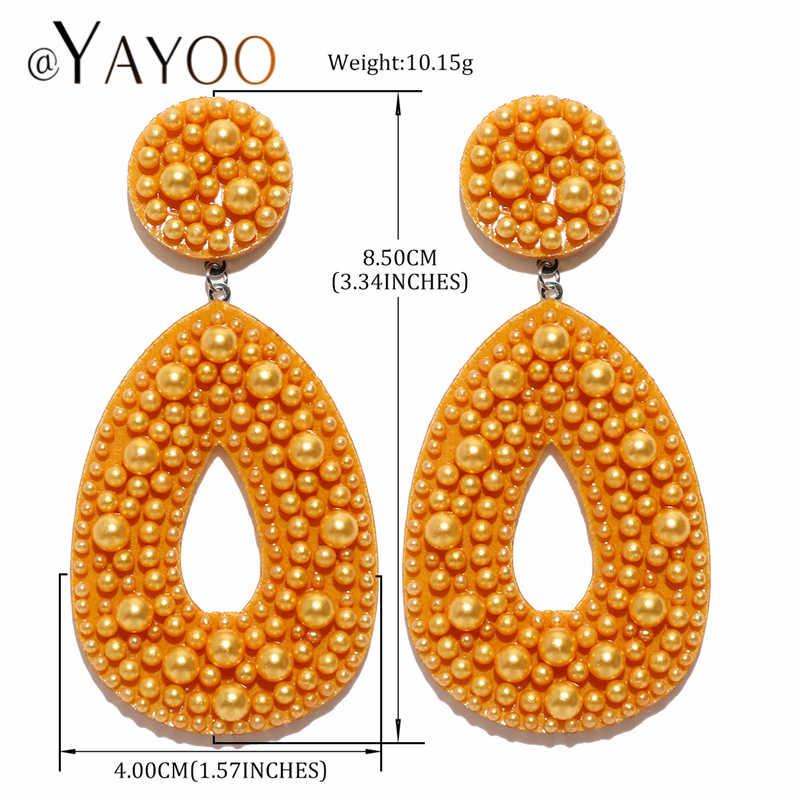 Neue Mode Frau Ohrringe 2019 Große Große Aussage Ohrringe Hängen Gold Farbe Strass Ohrringe für Frauen Kostüm Schmuck