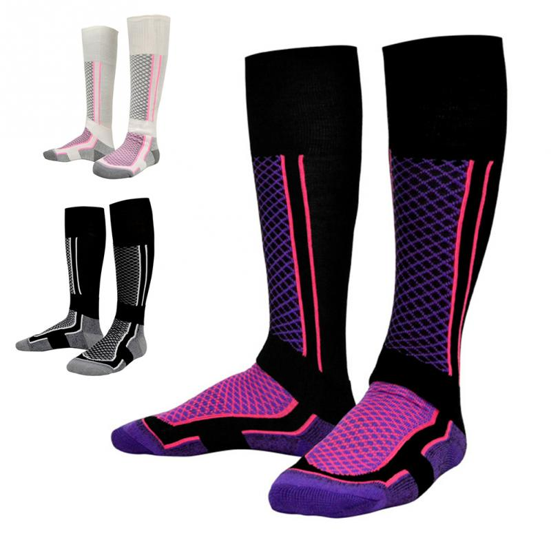 Winter Warm Men Women Thermal Long Ski Socks Stockings Thicken Sports Breathable Outdoors Skiing