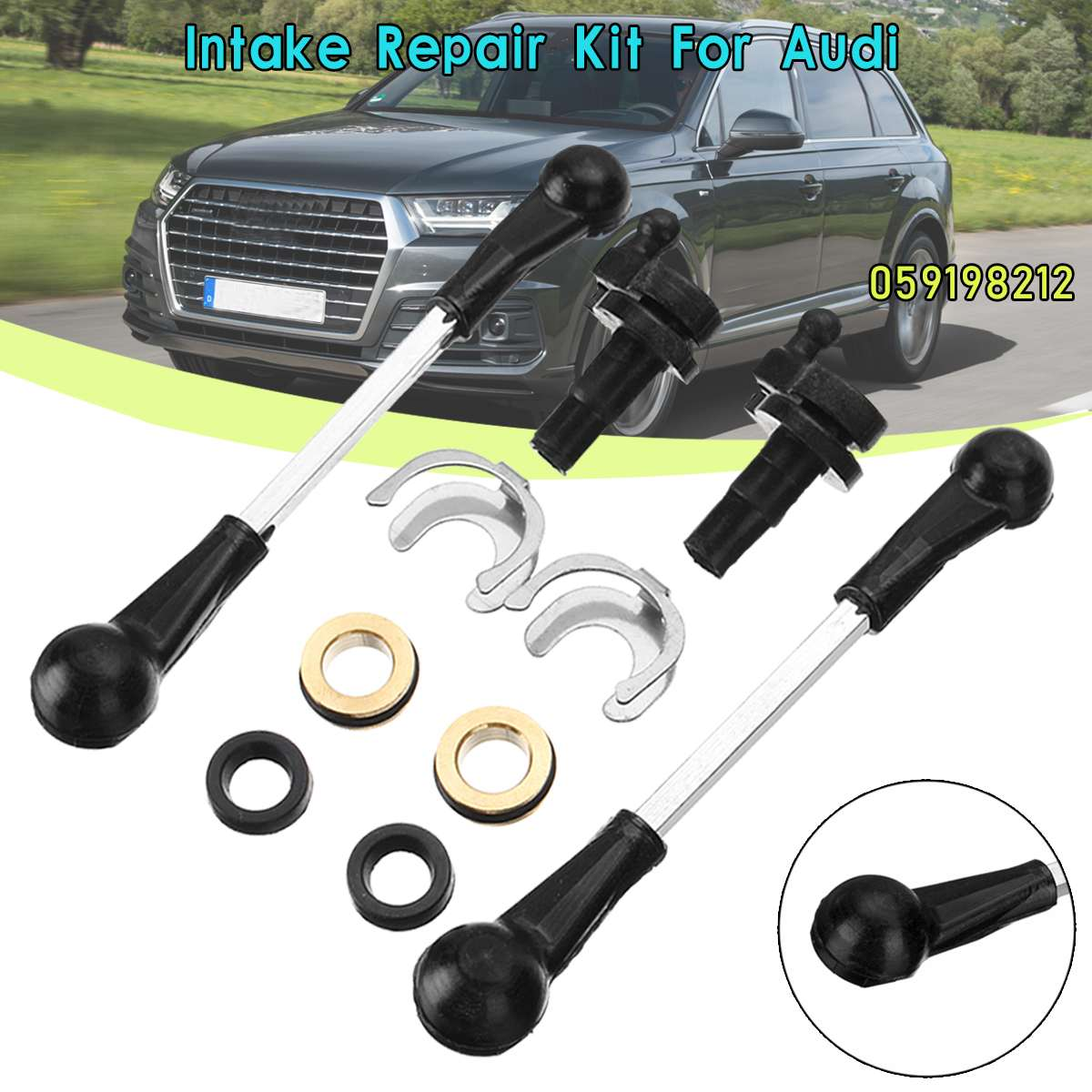 1 Set Intake Manifold Swirl Flap Repair Kit For Audi A6 A7 A8 Q7 2.7 3.0 TDI 059198212 059129086 2.7 3.0 TDI