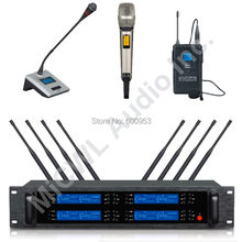 Classic SKM9000 8 Handheld 8 Lapel 8 Desktop Stage Conference Karaoke Wireless Microphone System UHF Adjustable Limited Edition high end uhf 8x50 channel goose neck desk wireless conference microphones system for meeting room