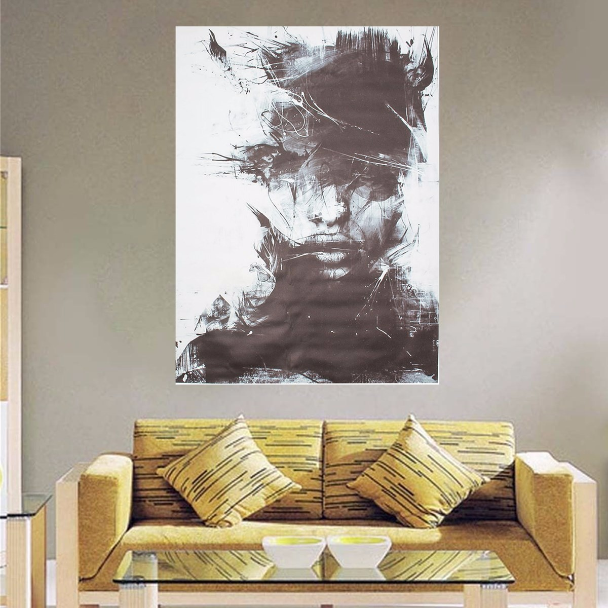 Modern Abstract Art Oil Painting Men for Living Room ...
