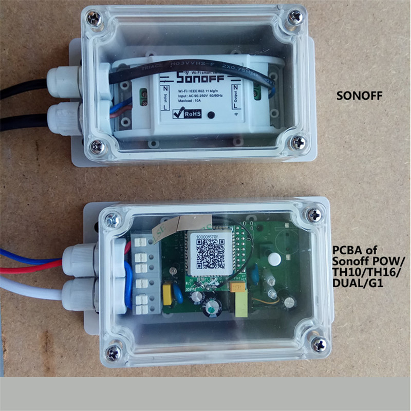 Sonoff IP66 Waterproof Case for Sonoff Wifi Switch Basic/RF/Dual/Pow/G1  Junction Box Smart Home Water-resistant Shell Cover