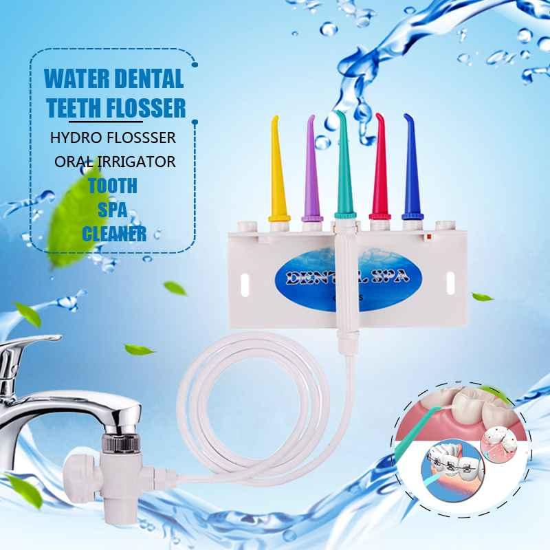 Grifo agua Flosser hilo irrigador Oral Dental Flosser hilo Dental cepillo de dientes SPA hilo Dental de chorro de agua a agua Dental a irrigación bucal