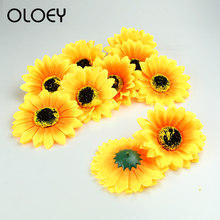 Oloey New 2019 Family Reunion Wedding Party Celebration Decoration DIY Artificial Cloth Sunflower Heads African Chrysanthemum(China)