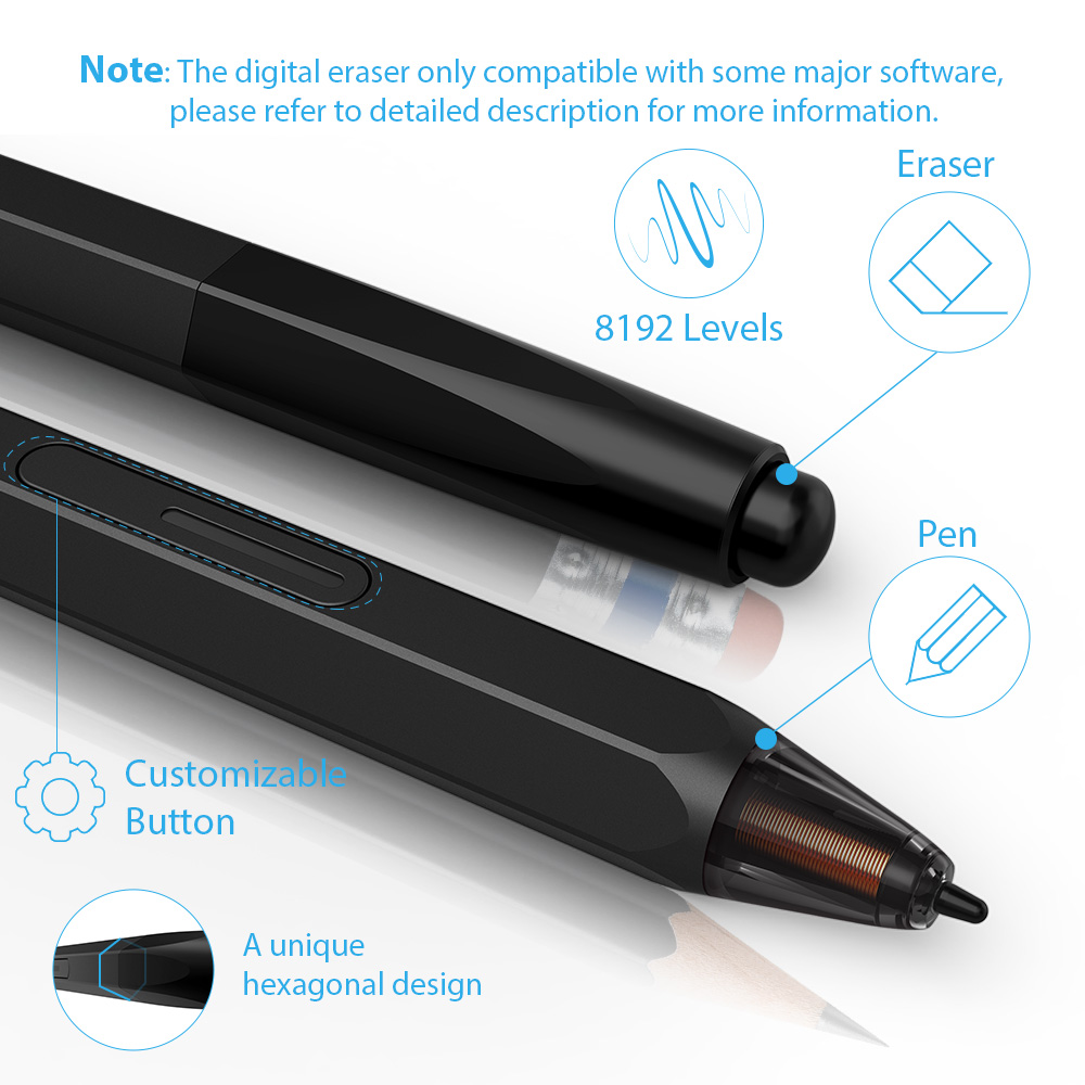 XP-Stylo Artiste 12 tablette de dessin tablette graphique Dessin Moniteur 1920X1080 HD IPS avec Touches de Raccourci et pavé tactile (+ P06) - 4