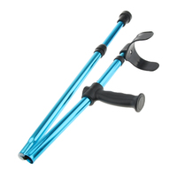 Elderly Handicapped Disabled Adults Foldable Walking Forearm Crutches Walking Stick Support Legs After Injury or Surgery