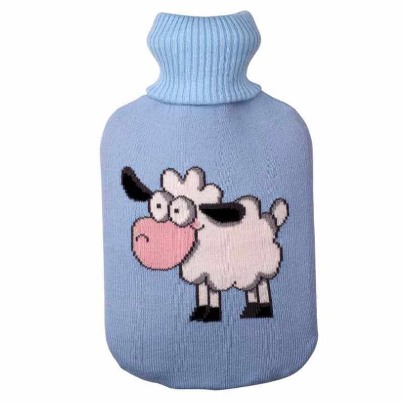 DROP Pengiriman Merajut Tas Botol Air Panas Cover untuk 2000 Ml Air Panas Botol Air Panas Tas Anti-panas Cover Pemanasan Tangan Hangat