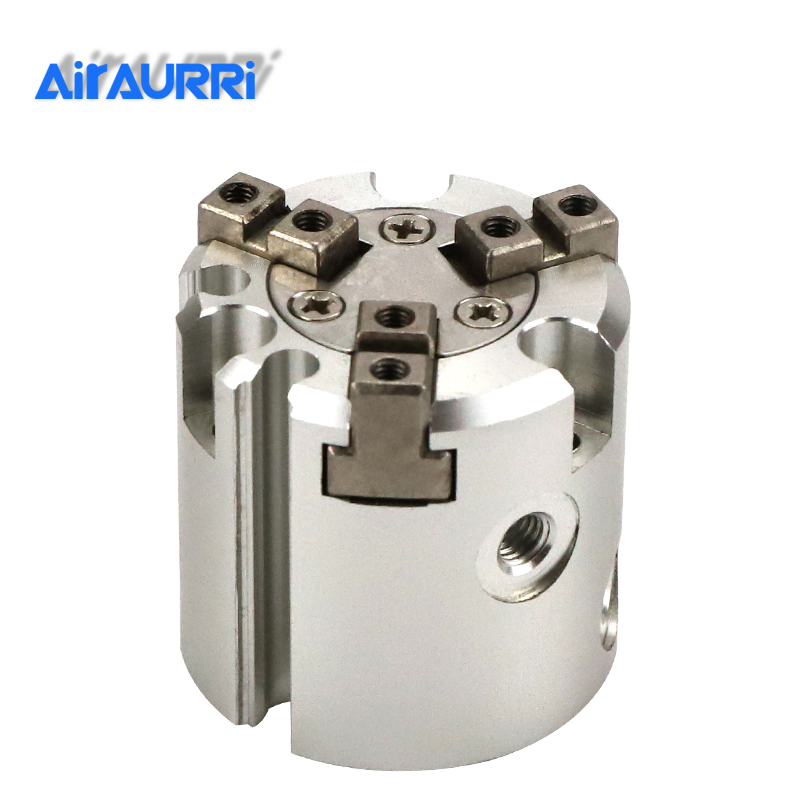 MHS3 16D 20D 25D 32D 40D 50D SMC Size  63D 80D 100D 125D Parallel Style Air Gripper 3 Finger Double Action Rotating Cylinder