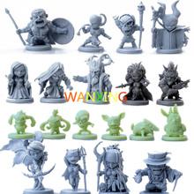 цена на 1/72 Plastic Model Kits Role-playing Games Arcadia Hero Quest Scale Models Miniature People Figures Toys For Children DIY Kit