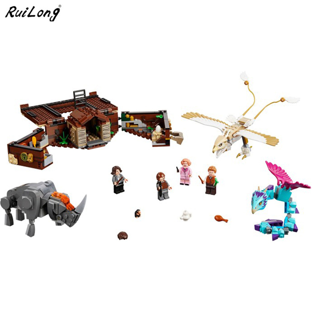 New Fantastic Beasts Newt's Case of Magical Creatures Compatible Legoing Harry Potter 75952  Building Blocks Christmas Toys Gift