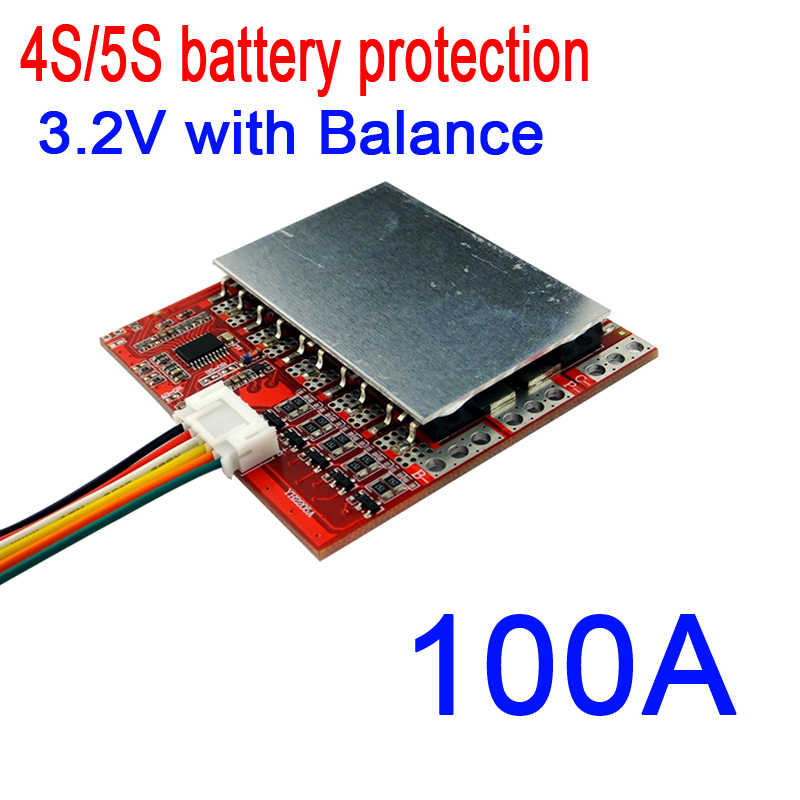 4S 5S 100A w/Balance 3.2V LiFePO4 Lithium Battery Cell PCB BMS Protection Board Lithium iron phosphate battery Charging