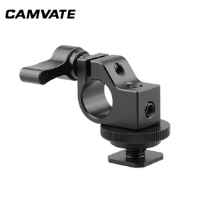 Image 4 - CAMVATE Standard Einzel Rod Clamp 15mm Schiene Stecker Adapter Mit Heißer/Kalten Schuh Halterung Für DSLR Camer Fotografie zubehör