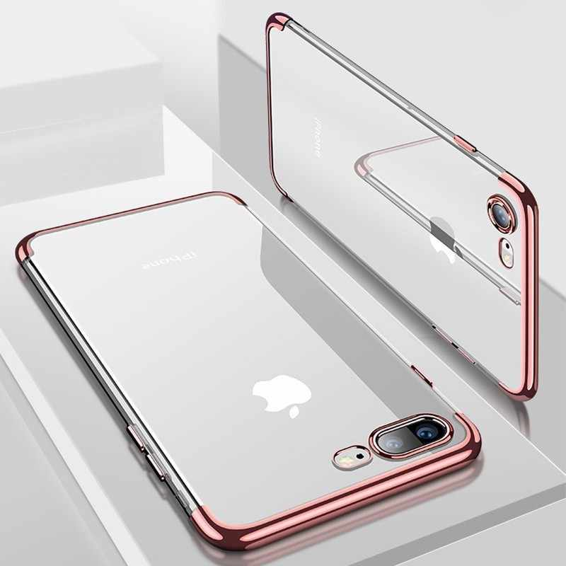 Silicon Clear Soft Case for iPhone X 10 XS Max XR iPhone 6S 6 s 6Plus 6SPlus iPhone 7 8 7Plus 8Plus Phone Cover Casing
