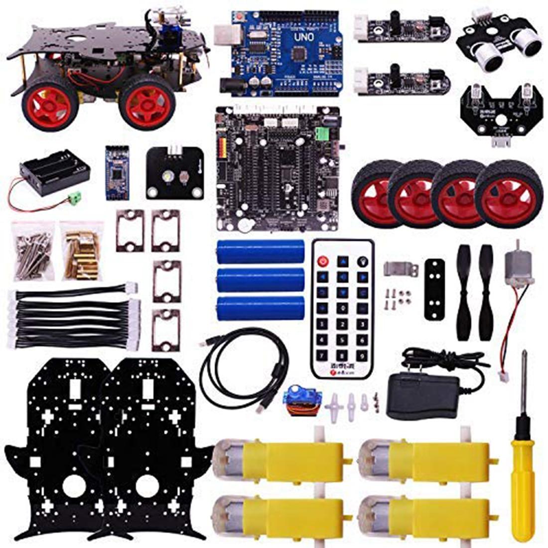 Rowsfire Roboter Auto 4wd Programmierung Stamm Bildung Off road Licht Tracking Roboter Spielzeug Mit Tutorial Für Arduino Heißer Verkauf - 3