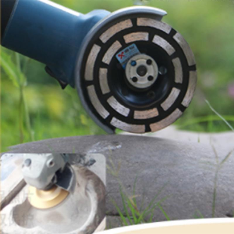 Double Row Diamond Grinding Cup Diamond Segment Wheel Disc 115mm/125mm/180mm For Concrete Deburring, Rough Surface Grinding