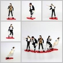 5pcs Michael Jackson Moonwalk PVC Action Figure SHF S.H.Figuarts King of POP MJ Collectible Model Toys For Children