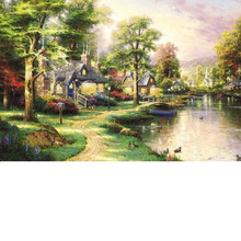 Adult wooden large oil painting series 500 children's landscape puzzle educational toys giftspuzzles for