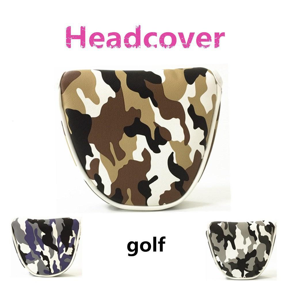 Mounchain Lightweight Golf Clubs Headcover PU Mallet Putter Cover Headcover Golf Accessories