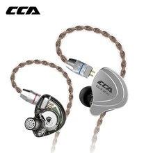 CCA C10 4ba+ 1dd гибридные наушники-вкладыши Hifi Dj Monito, спортивные наушники для бега, 5 приводных устройств, гарнитура, наушники с шумоподавлением