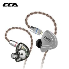 CCA C10 4ba+1dd Hybrid In Ear Earphone Hifi Dj Monito Running Sports Earphone 5 Drive Unit Headset Noise Cancelling Earbuds(China)