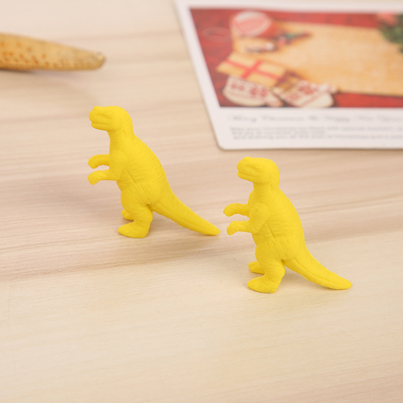 Latest Collection Of 2pcs/lot Pure Color Animal Eraser Kawaii Dinosaur Rubber Soft Erasers Correction Tools For Kids Gifts School Stationery Supplies Office & School Supplies
