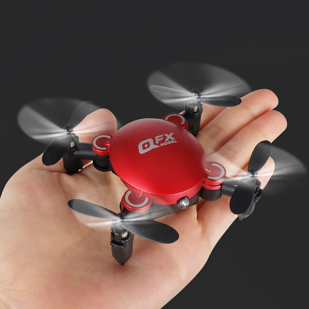 Quadcopter Drone Mini Remote-Control Foldable WIFI RC Aircraft Led 4-Axis Toys Altitude-Hold