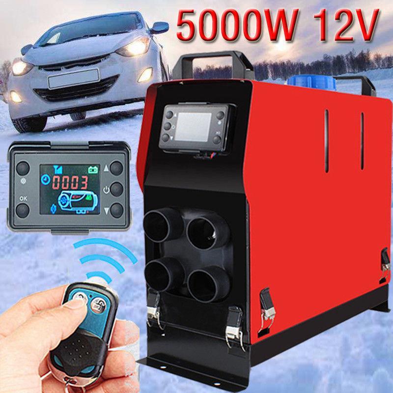 5000 W Air Diesels chauffage 5KW 12 V voiture chauffage 4 trous pour camions camping-cars bateaux Bus LCD interrupteur à clé