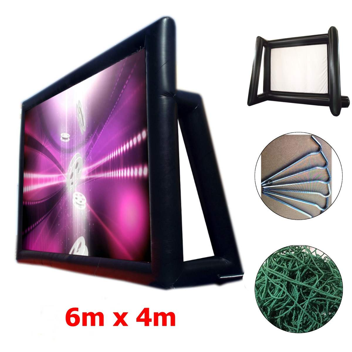 4.4mx2.5m 16:9 inflatable movie screen inflatable rear projection movie screen inflatable film screen4.4mx2.5m 16:9 inflatable movie screen inflatable rear projection movie screen inflatable film screen