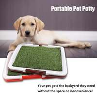 47 x 34 x 5cm Toilet Mat Dog Training Supplies Potty Pad Cat Tray Toilet Training Urinary Trainer Grass Mat Pee Pad Patch Indoor