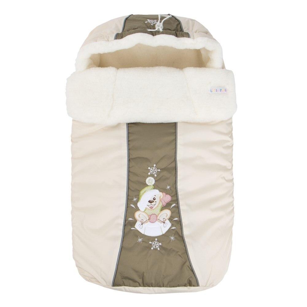 1200 Envelope fur Snowflake (12003 beige) rhinestone christmas snowflake brooch