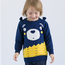VTOM  Baby Kids Boys Girls Knit Sweaters Autumn Winter Children's Sweaters New-arrival Kids Casual Tops Infant Wearing XN68 boys and girls cartoon sweaters 2017 autumn winter new children knitting clothes baby casual cotton knit wear pullover tops 3 8y
