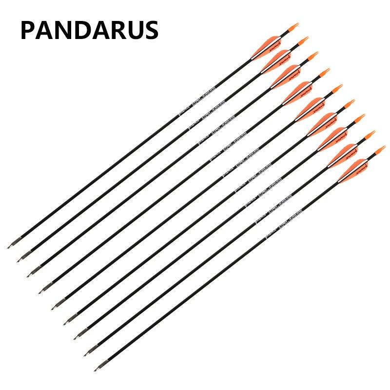 PANDARUS 6/12/24 PCS/lot Fiberglass arrows 28 Inches Spine 700 Bow Arrows shotting Archery arrow feather plastic