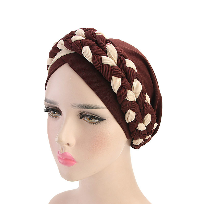 Bohemia Style Women Turban Hat Fashion Braid Knot  Lady Head Scarf Hijab Muslim Inner Hijab For Women Hair Accessories Hair Loss