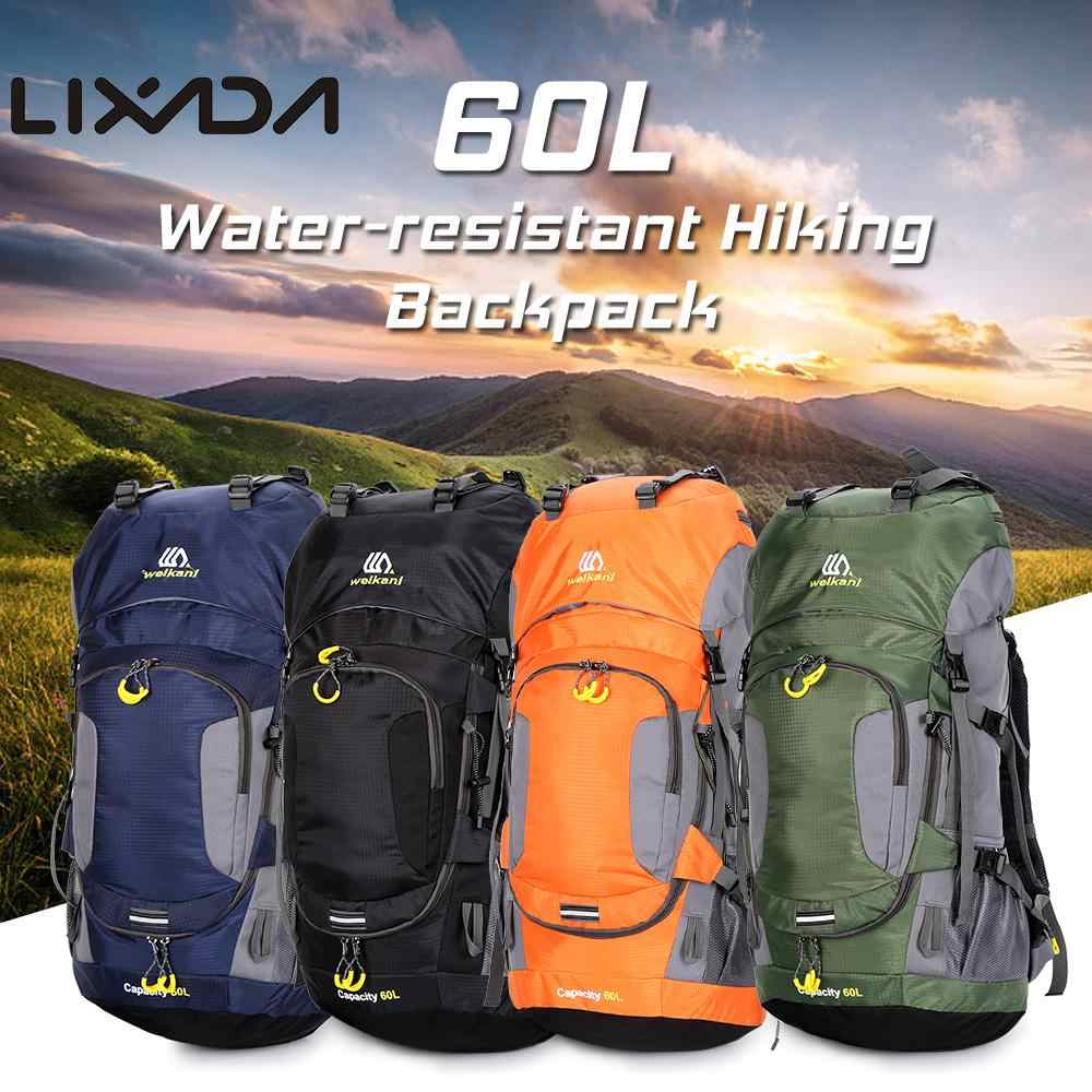 Lixada Mochila de Senderismo Impermeable 60L con Cubierta de Lluvia para Excursionismo Alpinismo Acampada Ciclismo al Aire Libre