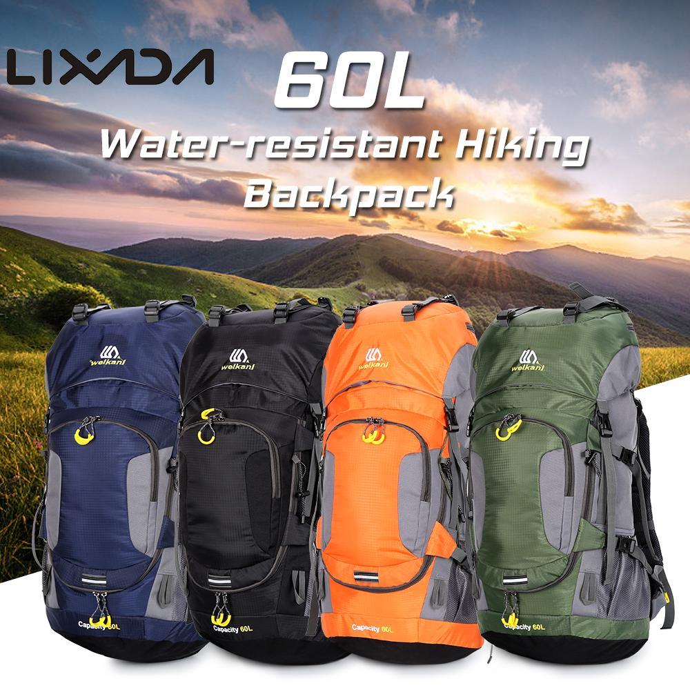 Lixada 60L sac à dos d'escalade de montagne imperméable randonnée Camping cyclisme sac à dos de Fitness en plein air sac de Sport avec couverture de pluie