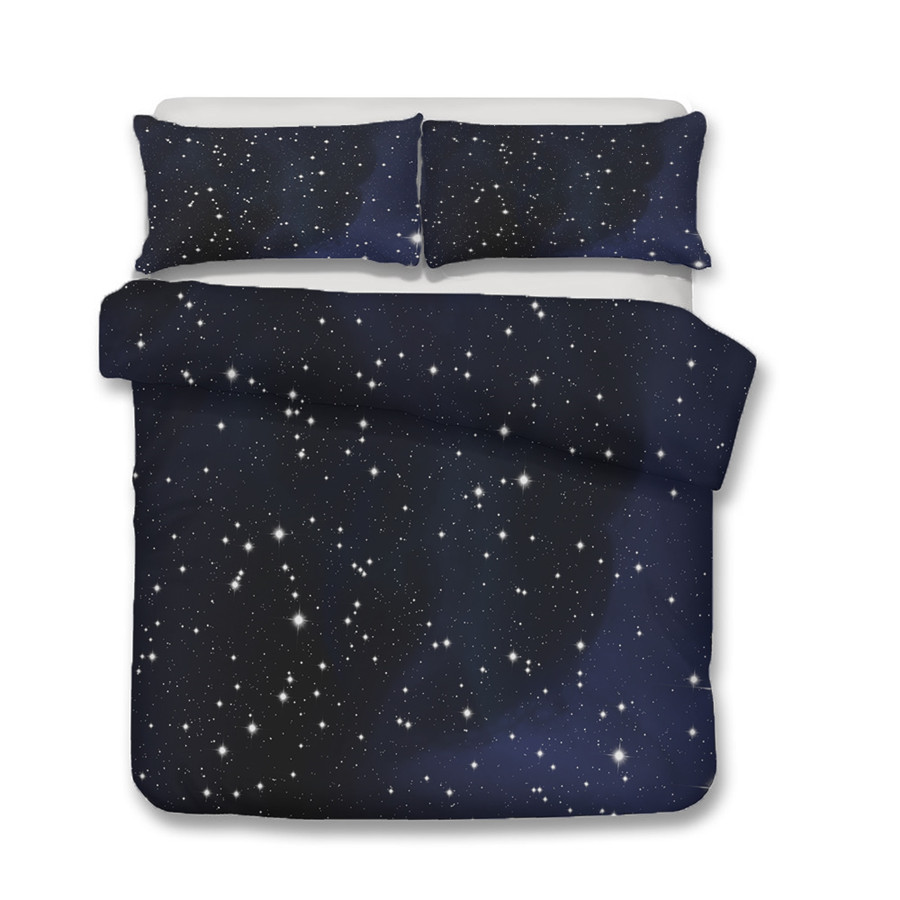 Bedding Set 3D Printed Duvet Cover Bed Set Starry Galaxy Home Textiles for Adults Bedclothes with Pillowcase XK08 in Bedding Sets from Home Garden
