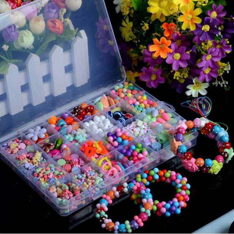Children Handmade DIY Corrected Amblyopia Early Childhood Educational Toys Beads Set Accessories For Necklace&Bracelet Girl Toys