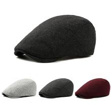 British Style 2019 Autumn Winter Men Berets Cap Hats Wool Fa
