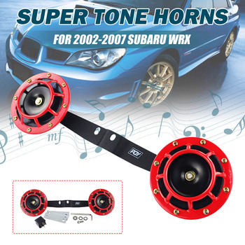 ใหม่ 2x Universal สำหรับ Subaru Impreza WRX 2002-2007 STI 2004-2007 Car Air Blast Tone Horn 12 V 118dB รถ Grille Horn