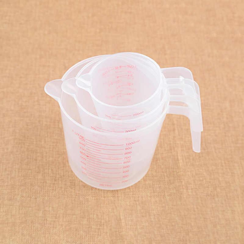 250/500/1000 ml copo de medição de plástico jarro despeje bico superfície ferramenta de cozinha suprimentos copo de qualidade com graduado qualidade cozinha