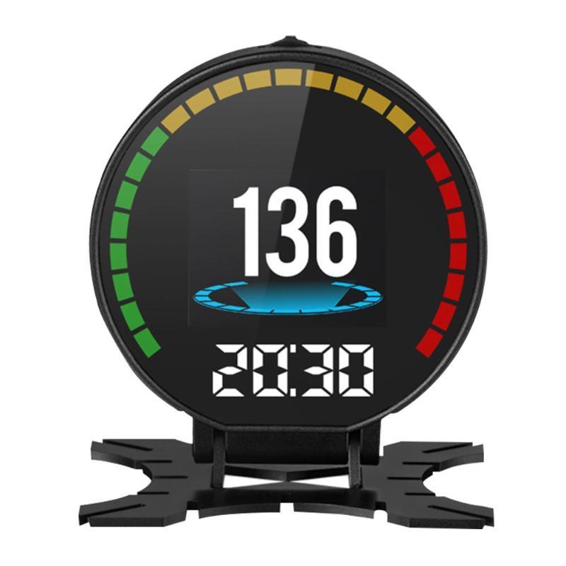 P15 voiture HUD affichage tête haute OBD2 OBDII alarme de tension système d'avertissement de survitesse projecteur LCD couleur écran vitesse alarme de température