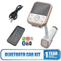 Wireless Bluetooth Car Kit MP3 TF FM Transmitter LCD AUX USB Charger