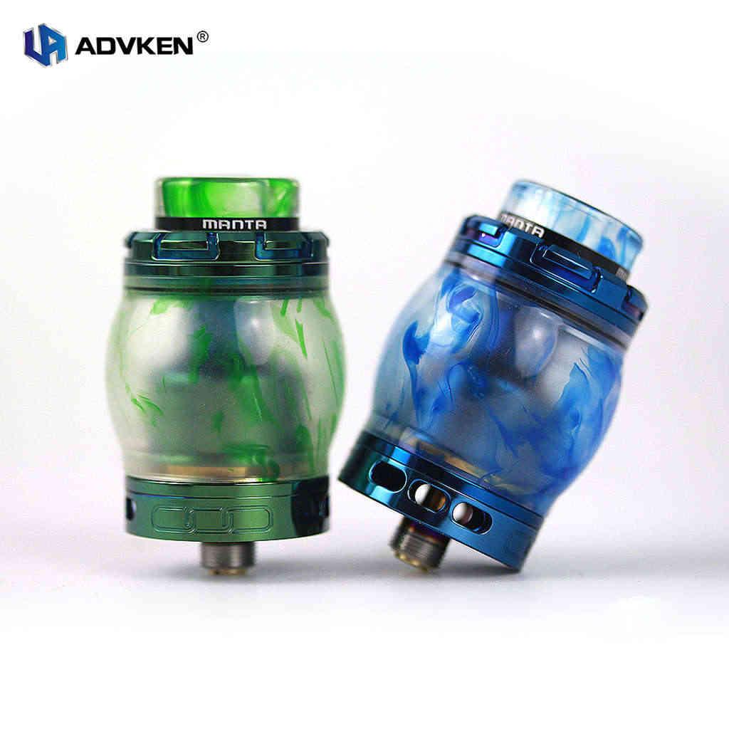 Атомайзеры для электронных сигарет Advken Manta Rta Смола 24 мм 4,5 мл верхняя часть испарителя наполнение поставляется с пей 810 капельные наконечники
