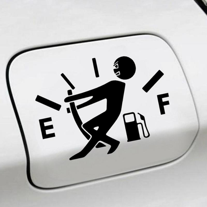 Funny Vinyl Tank Sticker Pull Fuel Tank Pointer To Full for Car JDM Decals