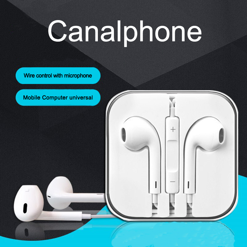 E1 Stereo Earphone in line control with mic Headset 3.5mm In Ear Earbuds For iPhone Samsung With Microphone(China)