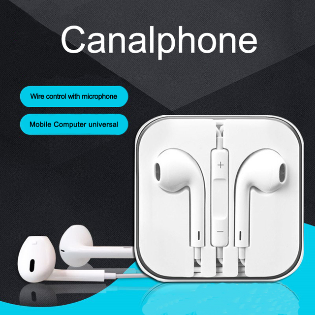 US $2 48 29% OFF|E1 Stereo Earphone in line control with mic Headset 3 5mm  In Ear Earbuds For iPhone Samsung With Microphone-in Phone Earphones &