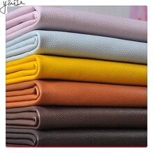 100*138cm Litchi Sentetik Deri PU Deri Kumaş Suni suni Deri Kumaşlar DIY Çanta Kanepe Dekorasyon Dikiş Malzemeleri Düz renkli Sahte Yapay Suni Deri Kumaş Dikiş DIY Çanta Ayakkabı Malzemesi
