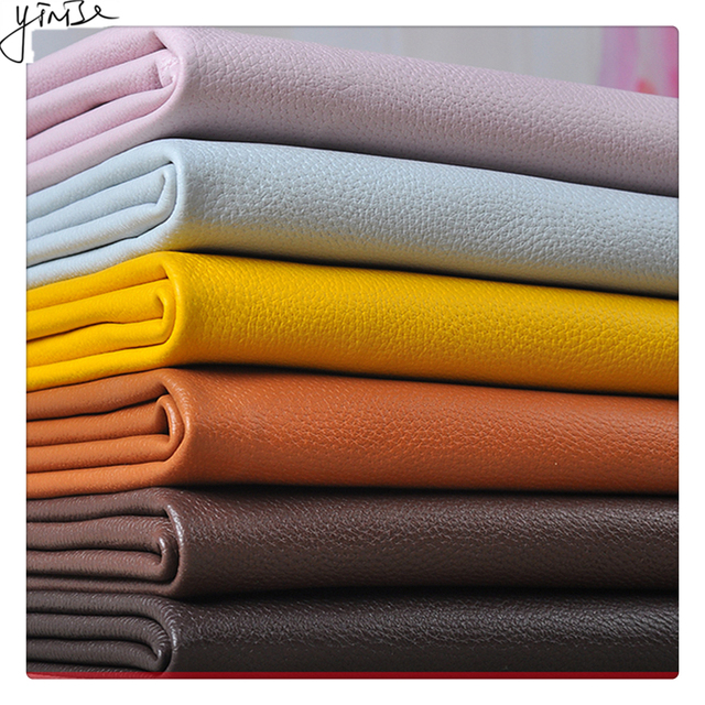 100*138cm Litchi Synthetic Leather PU Leather Fabric Artificial Faux Leather Fabrics DIY Bags Sofa Decoration Sewing Materials