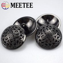 20pcs Meetee 15/18/20/23/25mm Hollow Metal Buttons Round Coat Button for Clothing Sewing Decor Accessories DIY Material Craft
